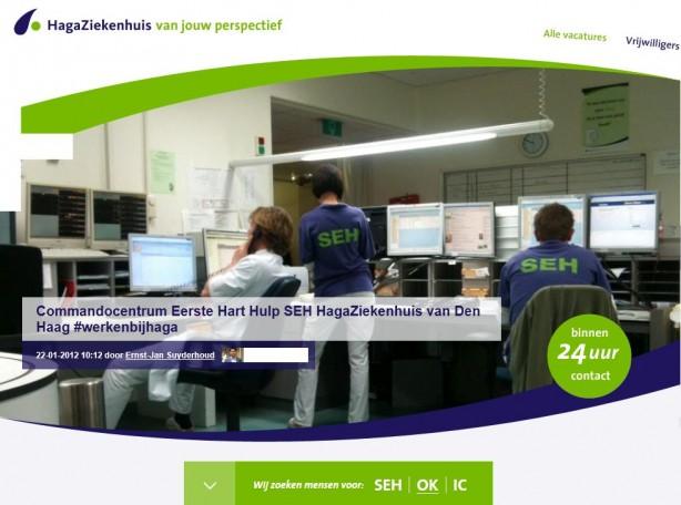 Homepage recruitmentsite HagaZiekenhuis